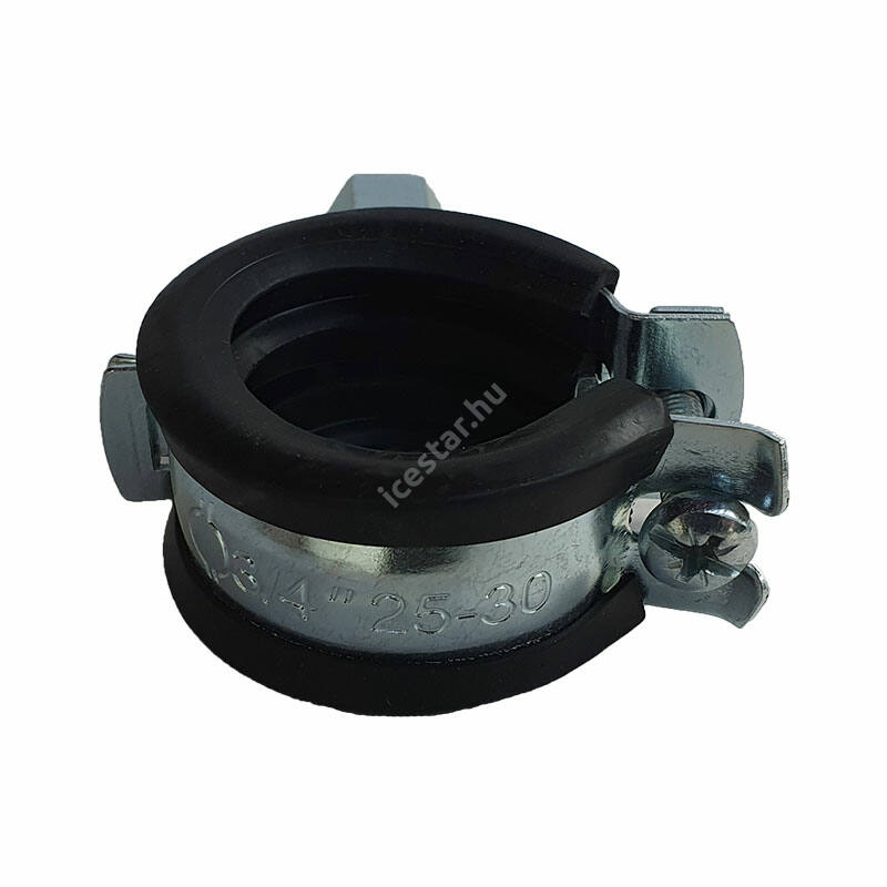 "Csőbilincs - gumis bilincs 25-30 mm M8 3/4"""